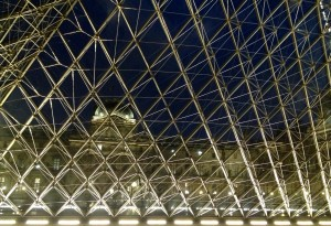 The Louvre glass pyramid